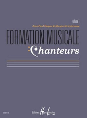 Formation Musicale Chanteurs - Volume 1 laflutedepan