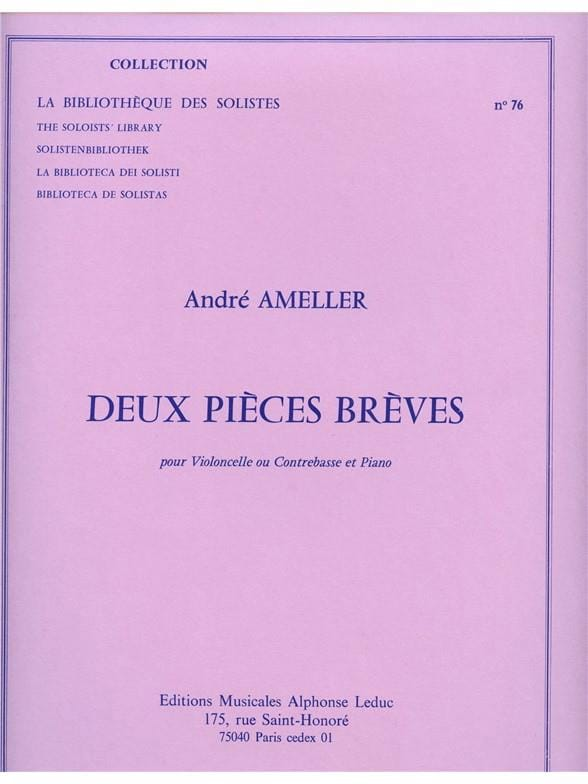 2 Pièces brèves - André Ameller - Partition - laflutedepan.com