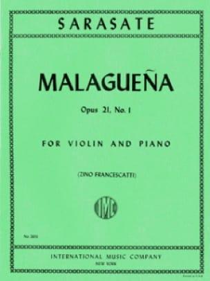 Malaguena op. 21 n° 1 - SARASATE - Partition - laflutedepan.com