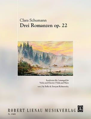 3 Romances Op. 22 Clara Schumann Partition Alto - laflutedepan