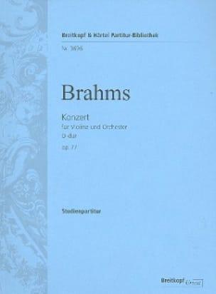 Concerto pour Violon en Ré Maj. Op. 77 - BRAHMS - laflutedepan.com