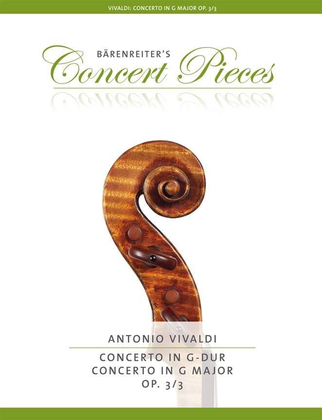 Concerto en Sol Majeur Op. 3/3 - VIVALDI - laflutedepan.com