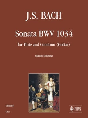 Sonata BWV 1034 - Flauto e Bc - BACH - Partition - laflutedepan.com