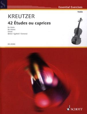 Rodolphe Kreutzer - 42 Etudes Ou Caprices - Partition - di-arezzo.fr