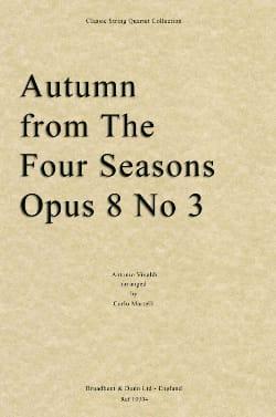 Les Saisons - l' Automne VIVALDI Partition Quatuors - laflutedepan
