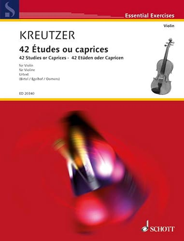 42 Etudes Ou Caprices - Rodolphe Kreutzer - laflutedepan.com