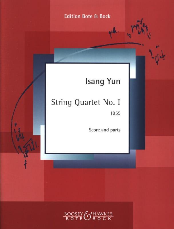 Quatuor à Cordes n° 1 - Isang Yun - Partition - laflutedepan.com