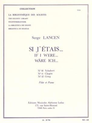 Si j'étais... n° 10, 11, 12 - Flûte Serge Lancen laflutedepan