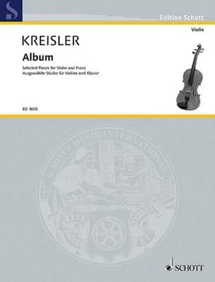 Album KREISLER Partition Violon - laflutedepan
