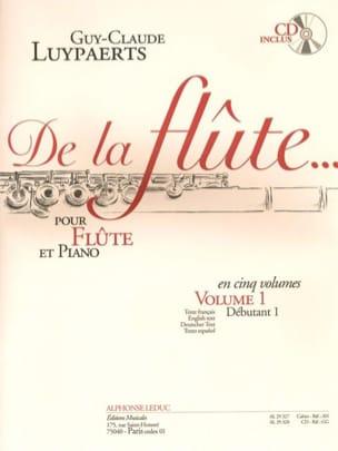 De la flûte... - Volume 1 Guy-Claude Luypaerts Partition laflutedepan