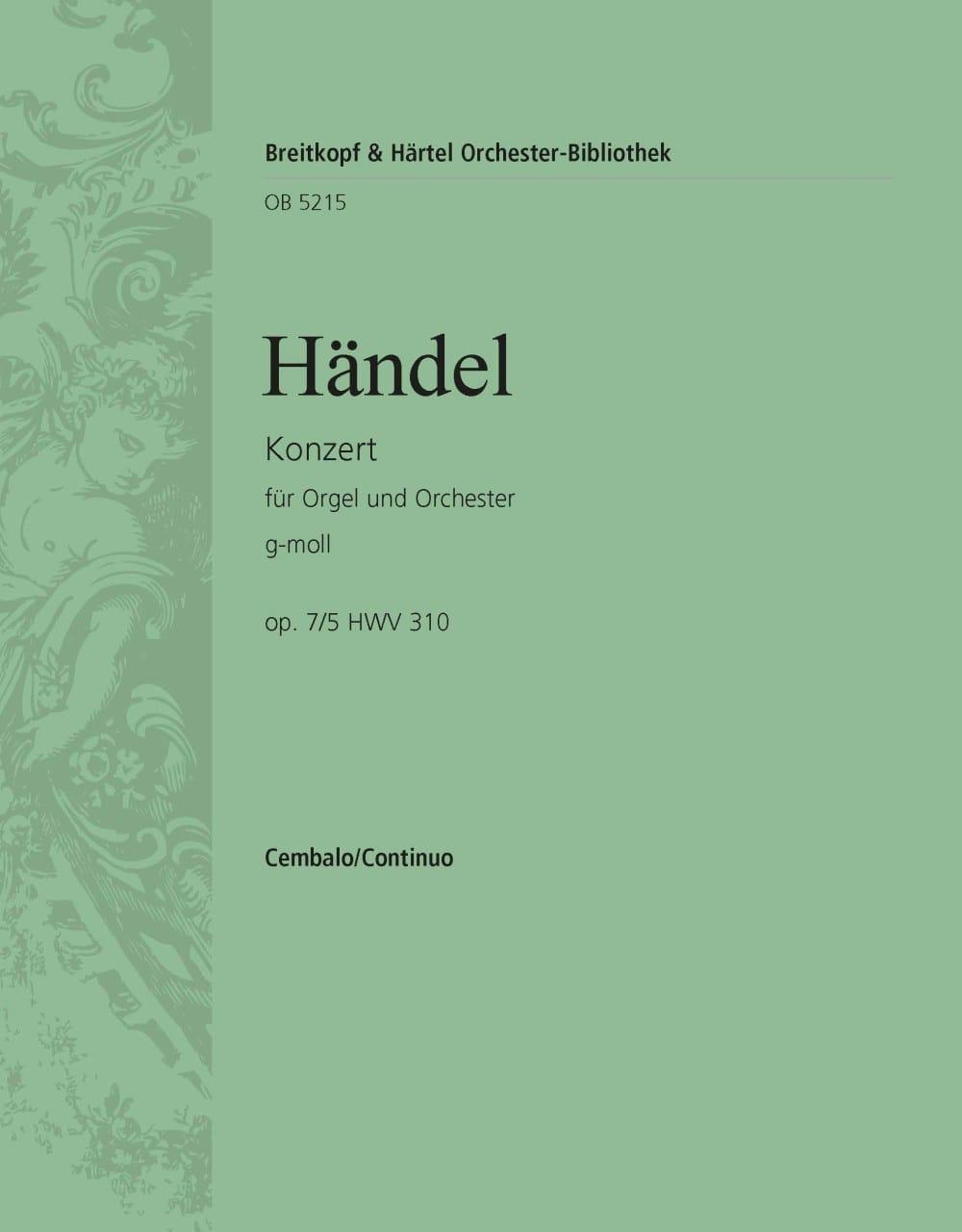 Orgelkonzert g-moll op. 7/5 HWV 310 - HAENDEL - laflutedepan.com
