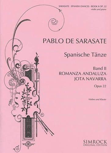Danses Espagnoles Opus 22 Volume 2 - SARASATE - laflutedepan.com
