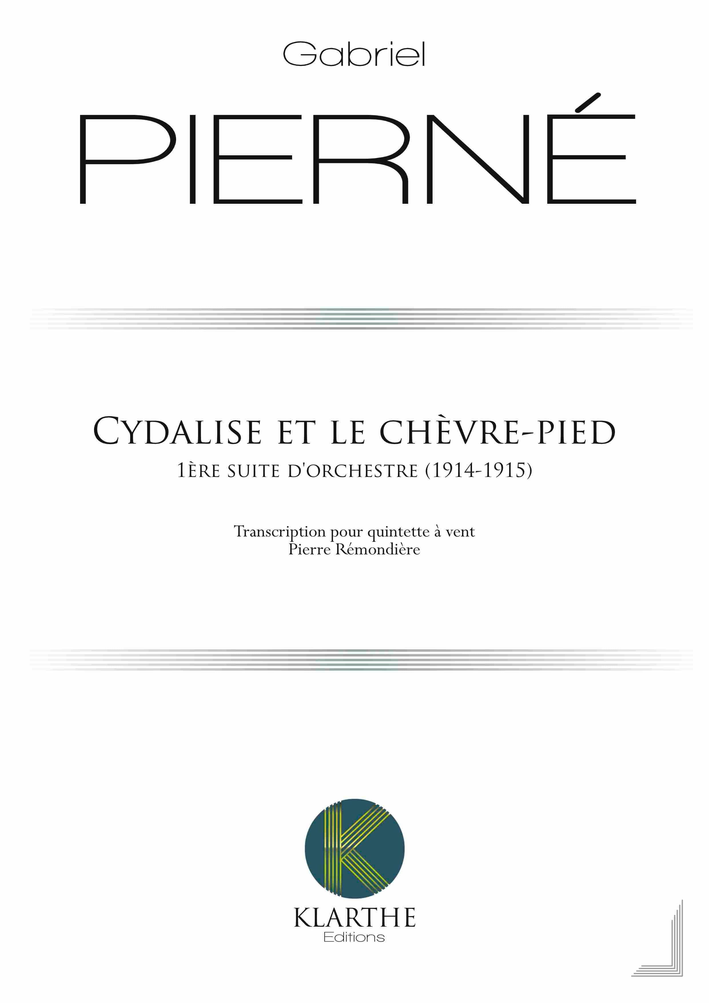 Cydalise - PIERNE - Partition - Quintettes - laflutedepan.com