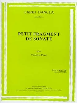 Petit fragment de Sonate op. 149 n° 2 DANCLA Partition laflutedepan