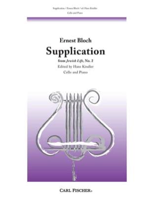 Supplication BLOCH Partition Violoncelle - laflutedepan