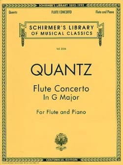 Concerto in G major - Flute piano QUANTZ Partition laflutedepan