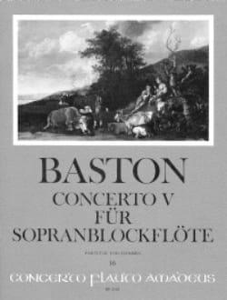 Concerto n° 5 für Sopranblockflöten - Stimmen und Partitur laflutedepan