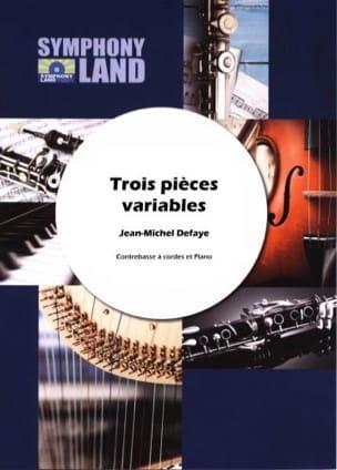 3 Pièces Variables pour contrebasse Jean-Michel Defaye laflutedepan