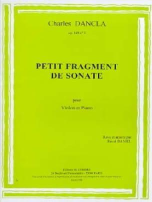 Petit fragment de Sonate op. 149 n° 2 - DANCLA - laflutedepan.com