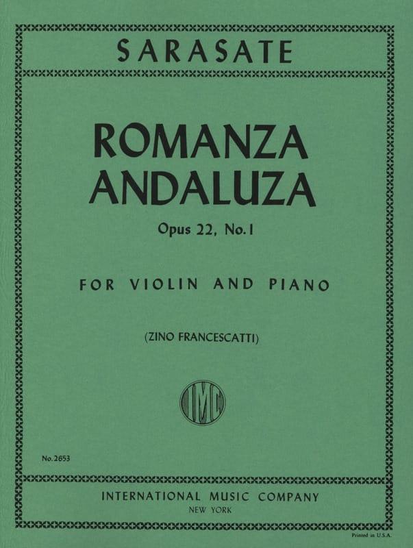 Romanza Andaluza op. 22 n° 1 - SARASATE - Partition - laflutedepan.com