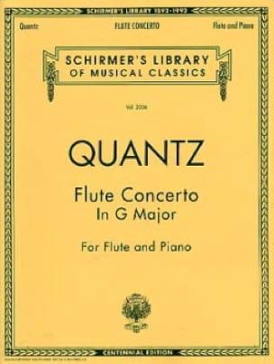 Concerto in G major - Flute piano - QUANTZ - laflutedepan.com