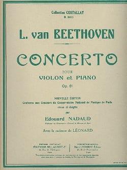 Concerto Violon en ré majeur op. 61 - BEETHOVEN - laflutedepan.com