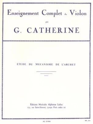 Etudes du mécanisme de l'archet Georges Catherine laflutedepan
