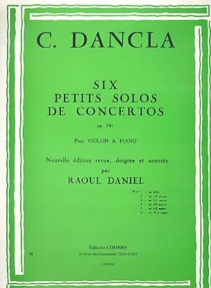 DANCLA - Small concerto solo op. 141 No. 1 in G Major - Partition - di-arezzo.co.uk