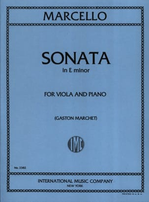 Sonata in E minor - Viola Benedetto Marcello Partition laflutedepan