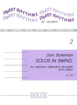 Solos In Swing - Bateman - Partition - Flûte à bec - laflutedepan.com