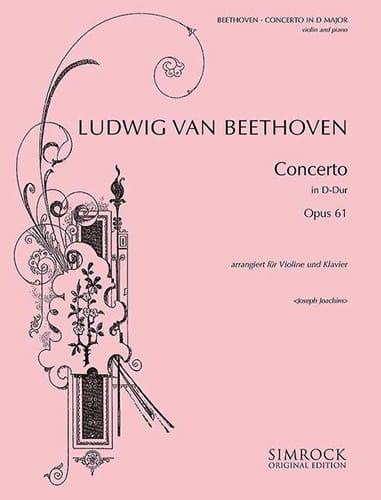 Concerto Violon ré majeur op. 61 - BEETHOVEN - laflutedepan.com