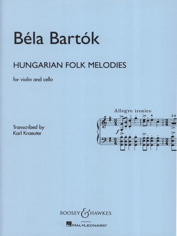 Hungarian Folk Melodies - Violin cello - BARTOK - laflutedepan.com