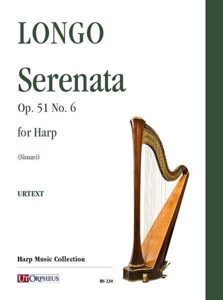 Serenata Opus 51 No. 6 for Harp - Allessandro Longo - laflutedepan.com
