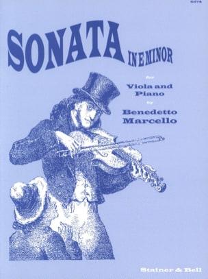 Sonate en Mi Mineur - Alto Benedetto Marcello Partition laflutedepan