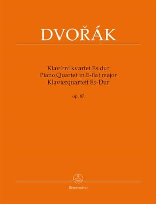Quatuor Avec Piano en Mib Majeur Opus 87 DVORAK Partition laflutedepan
