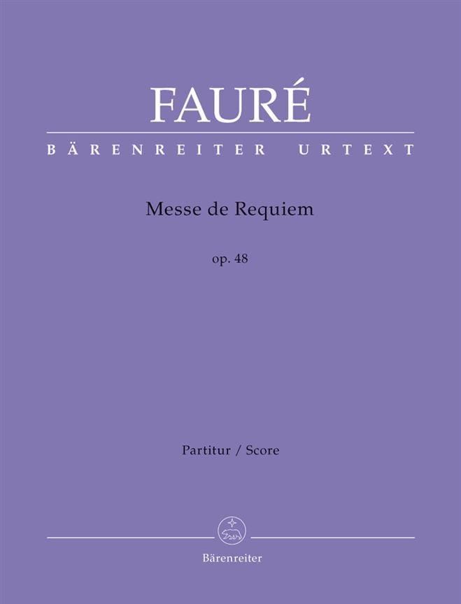 Requiem, Opus 48 - FAURÉ - Partition - Grand format - laflutedepan.com