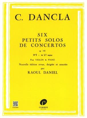 DANCLA - Small concerto solo op. 141 n ° 3 in C Major - Partition - di-arezzo.co.uk