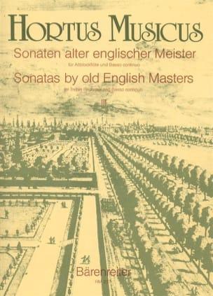 Sonaten alter englischer Meister - Bd. 3 - Altblockflöte u. Bc laflutedepan