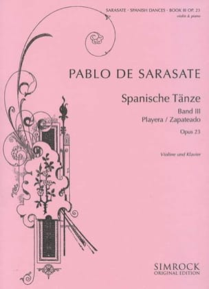 Danses Espagnoles Op. 23 Volume 3 SARASATE Partition laflutedepan