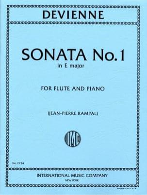 Sonata N° 1 E Mineur - Flute Piano DEVIENNE Partition laflutedepan