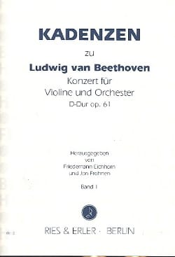 Cadences Sur le Concerto Op.61 En Ré Maj. De Beethoven Volume 1 laflutedepan