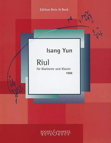 Riul für Klarinette und Klavier 1968 - Isang Yun - laflutedepan.com
