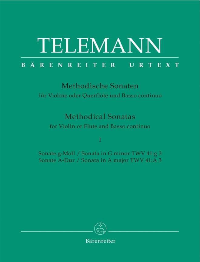 12 Sonates Méthodiques Volume 1 - TELEMANN - laflutedepan.com