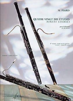 90 Etudes - volume 1 Marius Piard Partition Basson - laflutedepan