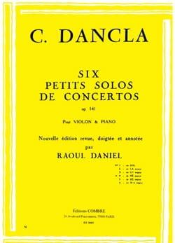DANCLA - Small concerto solo op. 141 No. 4 in D minor - Partition - di-arezzo.co.uk