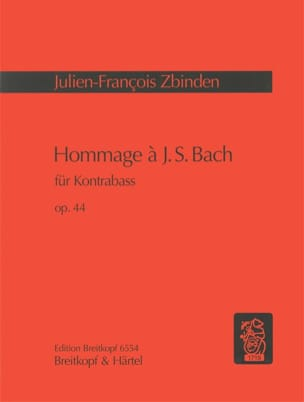 Hommage à J. S. Bach op. 44 Julien-François Zbinden laflutedepan
