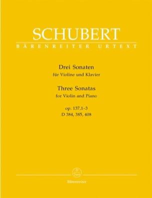 3 Sonates op. 137 SCHUBERT Partition Violon - laflutedepan