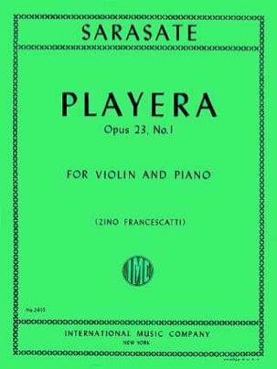 Playera op. 23 n° 1 SARASATE Partition Violon - laflutedepan