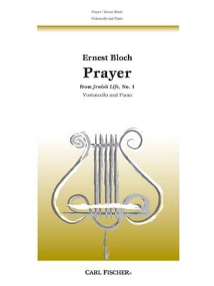 Prayer - Violoncelle BLOCH Partition Violoncelle - laflutedepan