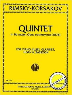 Quintet Bb major op. posth. 1876 -piano flute clarinet horn bassoon laflutedepan